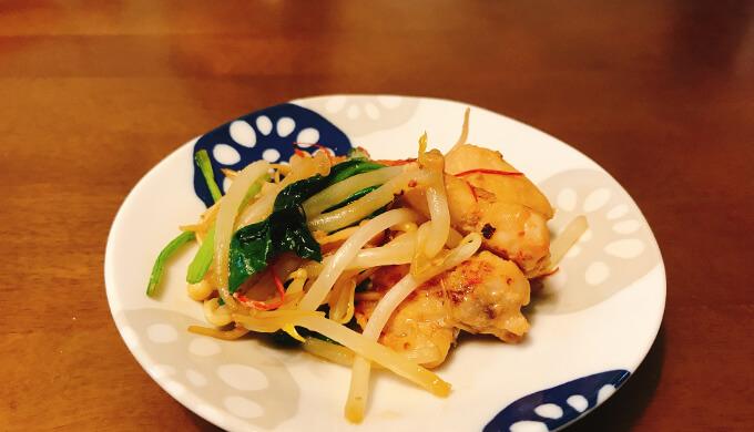 もろみチキンの野菜炒め