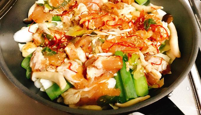 もろみチキンの野菜蒸